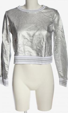 Forever 21 Sweatshirt & Zip-Up Hoodie in M in Silver