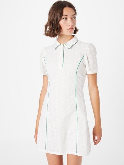 Rochie tip bluză 'Hobart' Résumé pe verde smarald / alb, Vizualizare model