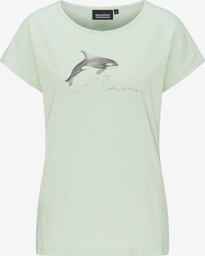 recolution T-Shirt 'ORCA' in grün / schwarz, Produktansicht