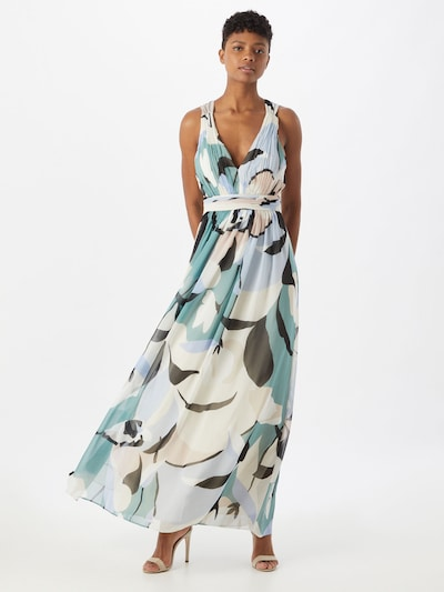 Esprit Collection Vestido de noche en azul claro / verde pastel / rosa / negro / blanco, Vista del modelo