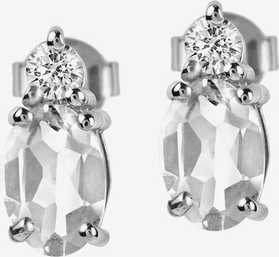 Jacques Lemans Earrings in Silver / White, Item view
