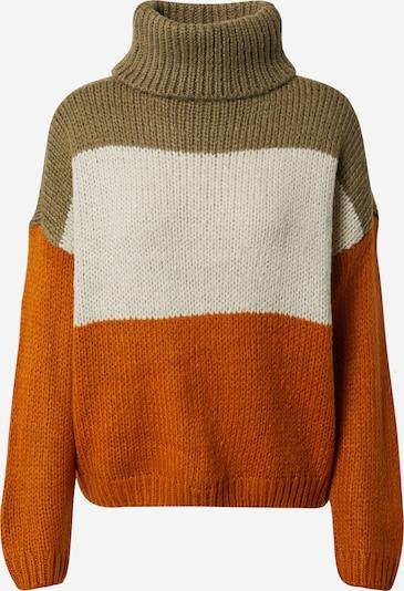 ONLY Pullover 'MANHATTAN' in beige / cognac / grün, Produktansicht