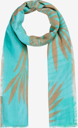 CODELLO Schal in türkis / braun / weiß, Produktansicht