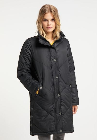 DreiMaster Vintage Wintermantel in de kleur Zwart, Modelweergave