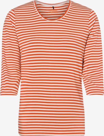 Olsen Shirt in dunkelorange / weiß, Produktansicht
