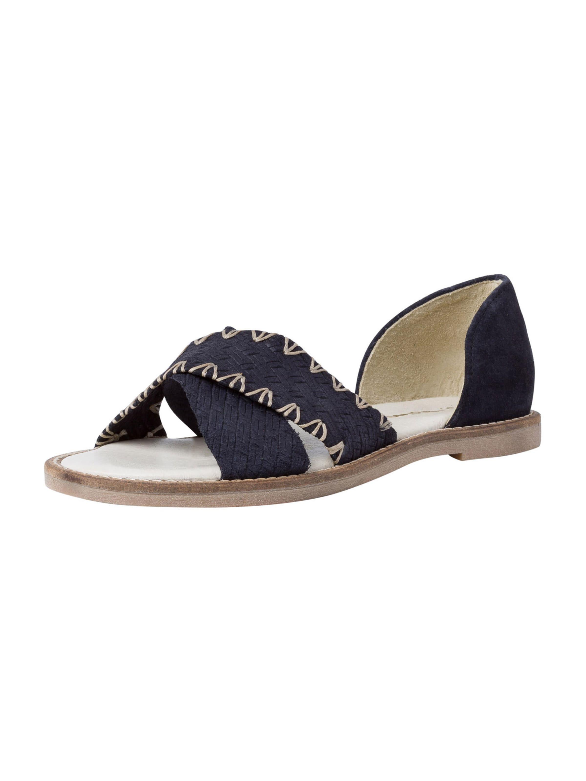 TAMARIS Sandale in beige / dunkelblau