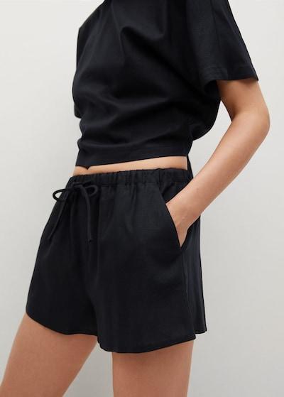 MANGO Kalhoty 'Cris' - černá, Model/ka
