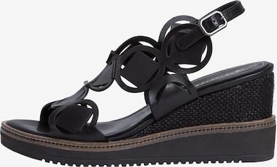 TAMARIS Sandaal in de kleur Zwart: Vooraanzicht