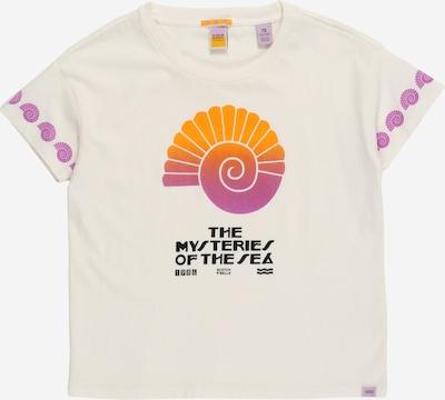 SCOTCH & SODA Majica | lila / oranžna / črna / off-bela barva: Frontalni pogled