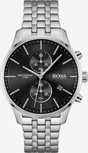 BOSS Casual Analoginen kello 'ASSOCIATE' värissä musta / hopea, Tuotenäkymä