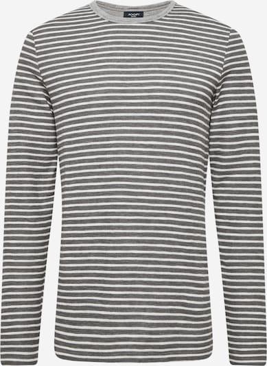 JOOP! Jeans Majica 'Arjan' u kameno siva / bijela, Pregled proizvoda