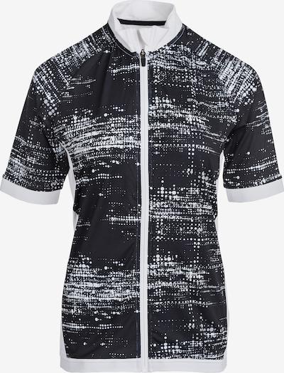 ENDURANCE Radtrikot VIVIENNE W mit extra hohem Komfort in schwarz / weiß, Produktansicht