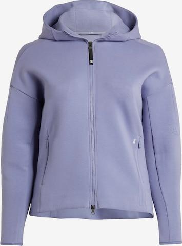 ADIDAS PERFORMANCE Athletic Zip-Up Hoodie in Purple