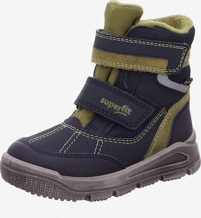 Sniego batai 'Mars' iš SUPERFIT , spalva - tamsiai mėlyna / alyvuogių spalva / alyvinė spalva, Prekių apžvalga