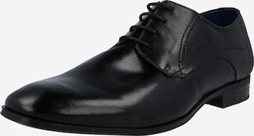 bugatti Δετό παπούτσι 'Mattia II' σε μαύρο