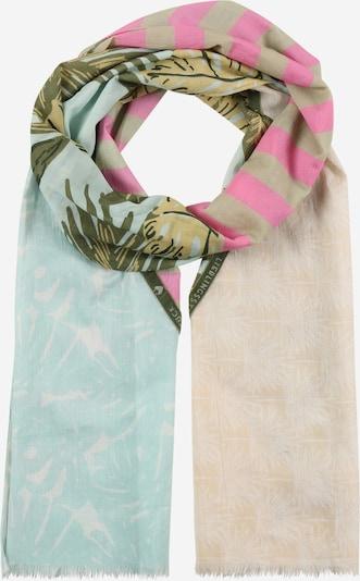 LIEBLINGSSTÜCK Écharpe 'Malea' en beige / azur / vert foncé / rose, Vue avec produit