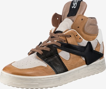 A.S.98 High-Top Sneakers in Brown