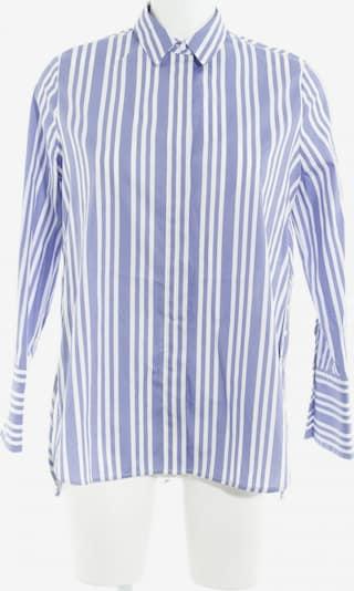 MANGO Oversized Bluse in XS in blau / weiß: Frontalansicht