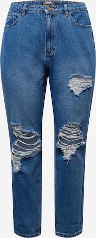 Missguided Plus Jeans 'RIOT' in Blau