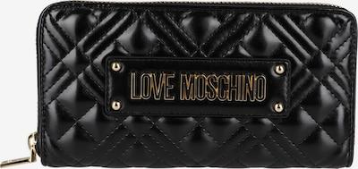 Love Moschino Brieftasche mit Steppungen in schwarz, Produktansicht