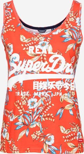 Superdry Top in de kleur Gemengde kleuren / Sinaasappel, Productweergave
