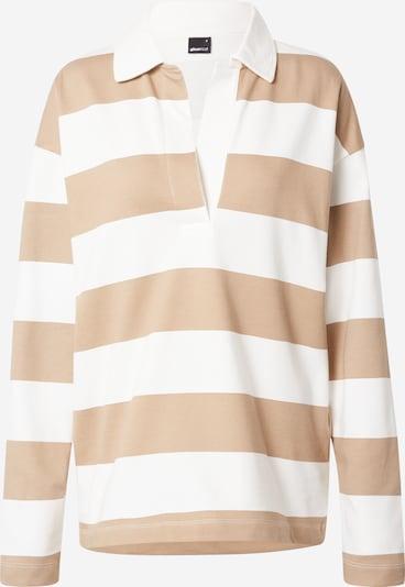 Gina Tricot Пуловер 'Jadie' в бежово / бяло: Изглед отпред