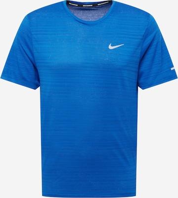 NIKE Funktsionaalne särk 'Miler', värv sinine