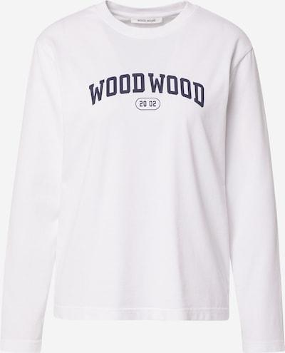 WOOD WOOD Μπλουζάκι 'Astrid' σε σκούρο μπλε / λευκό, Άποψη προϊόντος