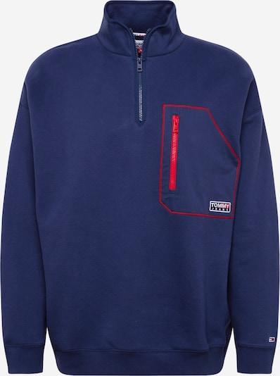 Tommy Jeans Sweat-shirt en bleu marine / rouge / blanc, Vue avec produit