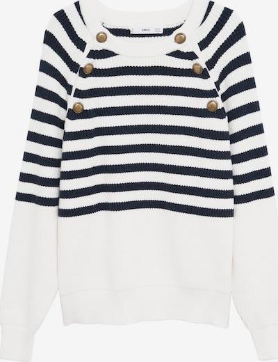 MANGO Pullover in marine / weiß, Produktansicht