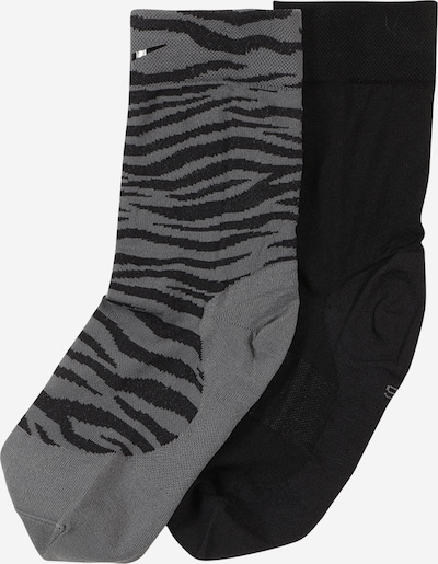NIKE Sports socks 'Sheer' in Grey / Black, Item view