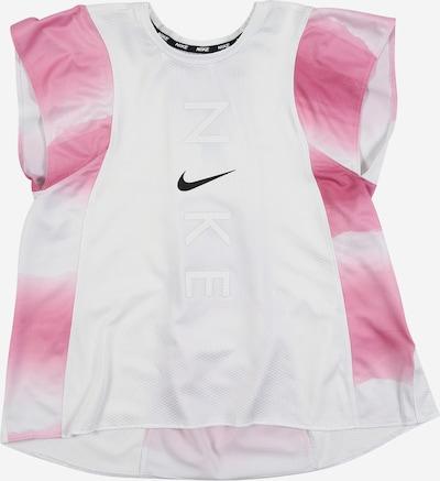 NIKE T-Shirt 'Instacool' in rosa / weiß, Produktansicht