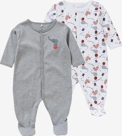 NAME IT Schlafanzug in dunkelblau / dunkelgrau / graumeliert / rot / weiß, Produktansicht