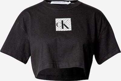 Calvin Klein Jeans Тениска в черно / бяло, Преглед на продукта