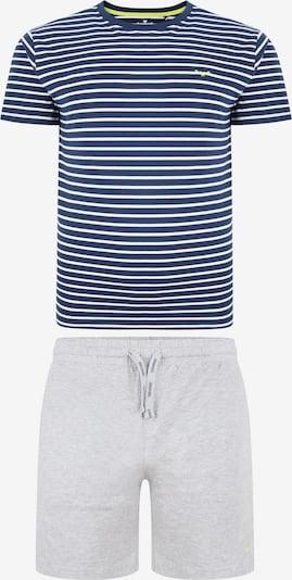 Threadbare Pyjama in blau / gelb / grau / weiß, Produktansicht