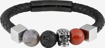 ZIPPO Armband Halbedelstein Armband in mischfarben / schwarz, Produktansicht