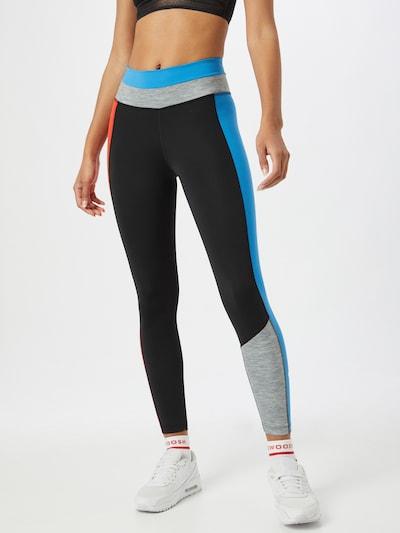 NIKE Sporthose in blau / graumeliert / rot / schwarz: Frontalansicht