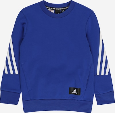 ADIDAS PERFORMANCE Sweat de sport en bleu roi / noir / blanc, Vue avec produit