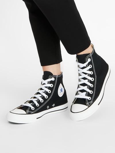 Sneaker înalt 'Chuck Taylor All Star Hi' CONVERSE pe negru: Privire frontală