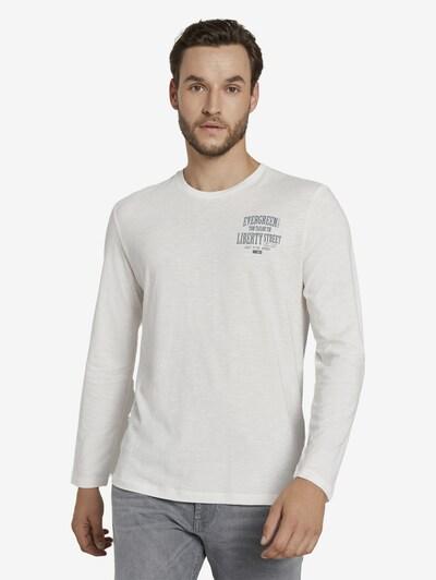 TOM TAILOR Shirt in de kleur Zwart / Wit: Vooraanzicht