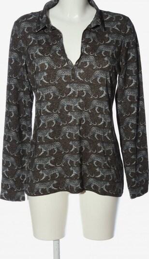 Geisha Langarm-Bluse in M in blau / braun / schwarz, Produktansicht