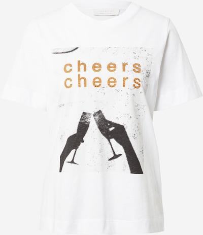 Rich & Royal T-shirt i guldgul / svart / vit, Produktvy