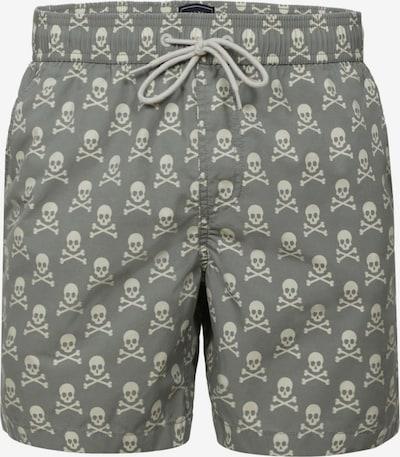 Scalpers Shorts de bain en kaki / blanc, Vue avec produit