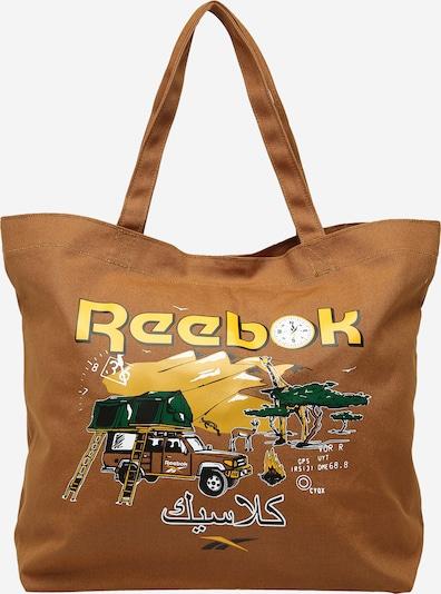 sötét bézs / limone / smaragd / fekete / fehér Reebok Classics Shopper táska, Termék nézet
