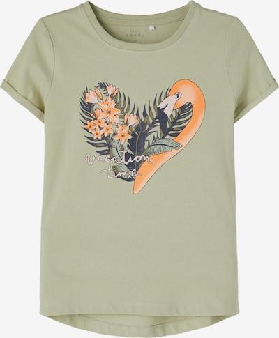 NAME IT Shirt 'Vix' in pastellgrün / dunkelgrün / orange, Produktansicht