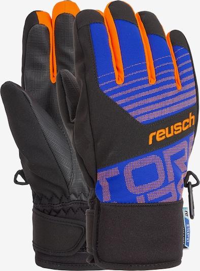 REUSCH Fingerhandschuhe 'Torbenius R-TEX® XT Junior' in blau / orange, Produktansicht