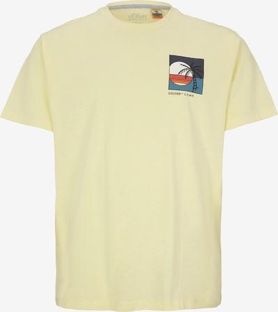 s.Oliver Men Big Sizes T-Shirt in hellgelb / mischfarben, Produktansicht