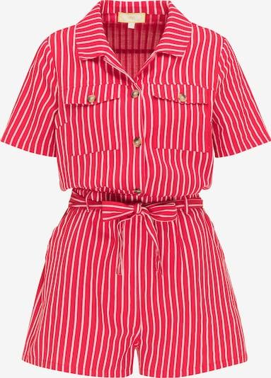 MYMO Jumpsuit in rot / weiß, Produktansicht