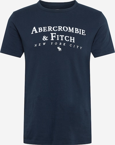 Abercrombie & Fitch Shirt in navy / white: Frontal view