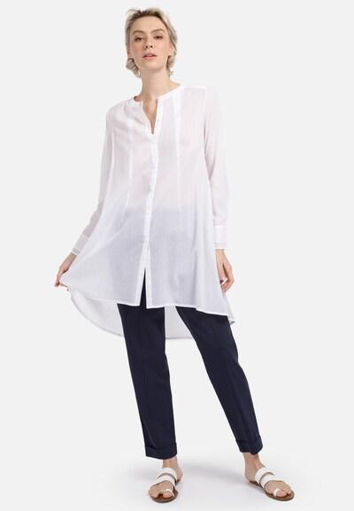 HELMIDGE Longbluse in weiß, Modelansicht